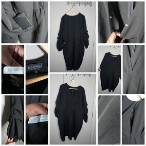 Eloquii Black Dress w/ Detailed Arms Size 24
